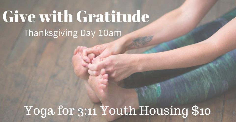 Give with Gratitude Yoga Class